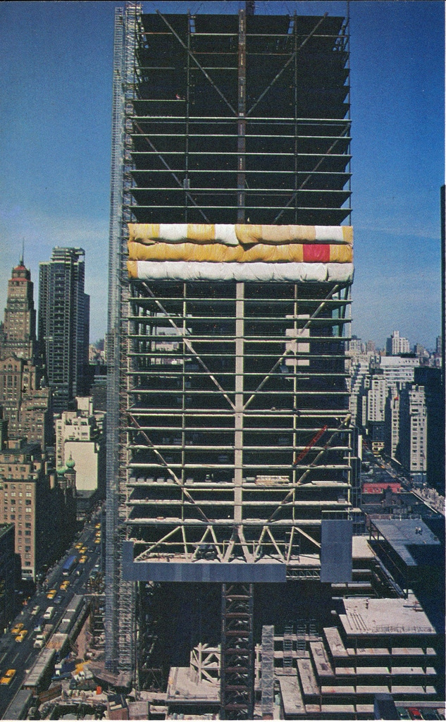 Construction of the Citicorp Tower. March, 1976.