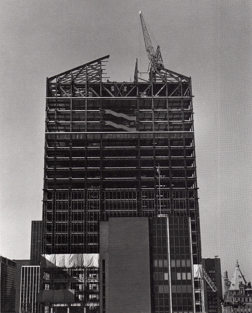 Construction of the AT&T Building. January 1982.