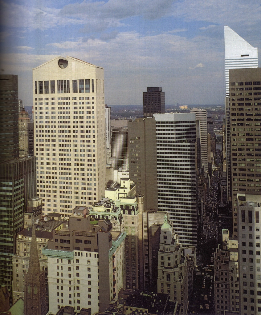 The 684ft, 38 story AT&T Building, opened in 1984 in Madison Avenue between East 55 and 56th Street.