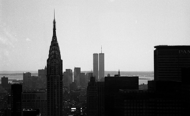 Looking South across midtown and lower Manhattan. 1984.
