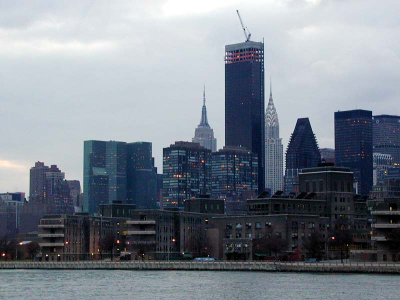 the Trump World Tower under construction