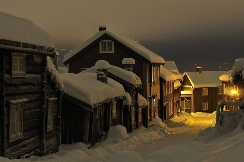 Winter night, Norway