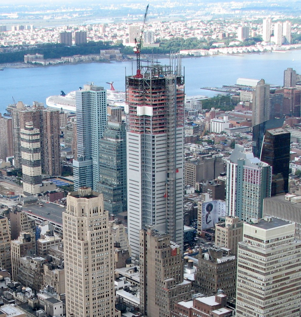 The new One World Trade Center is topped out on August 30th 2012 and stands as a beacon of hope in New York