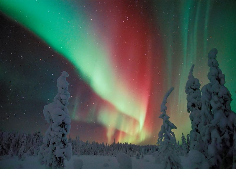 northern lights, finnish lapland