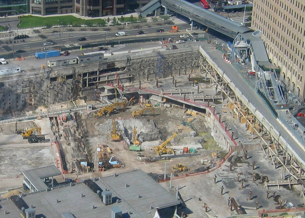 Construction of the new One World Trade Center begins in 2006.