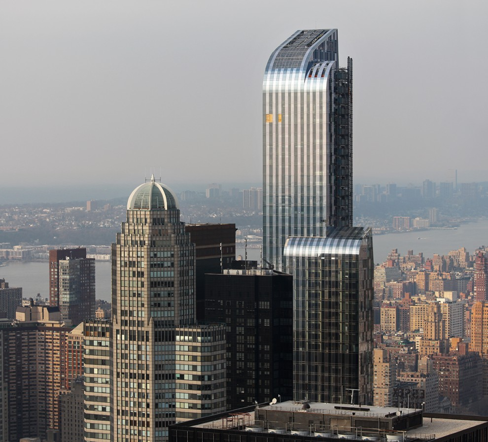 In 2014 the One57 Building is completed and stands at 1005ft (306m).