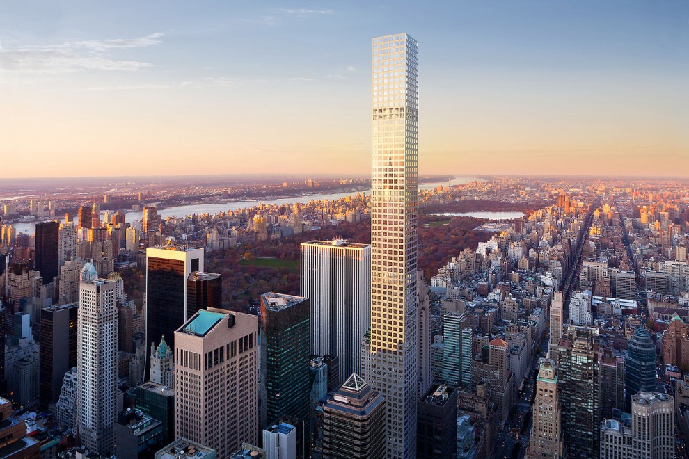 The final addition to the New York skyline is the building at 432 Park Avenue, which was completed in 2015