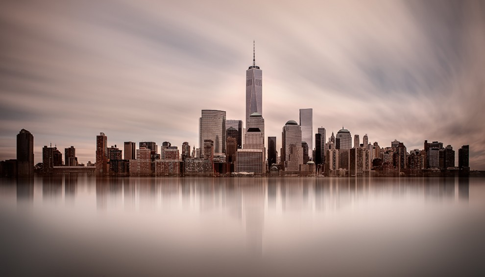 The lower Manhattan skyline 2015.