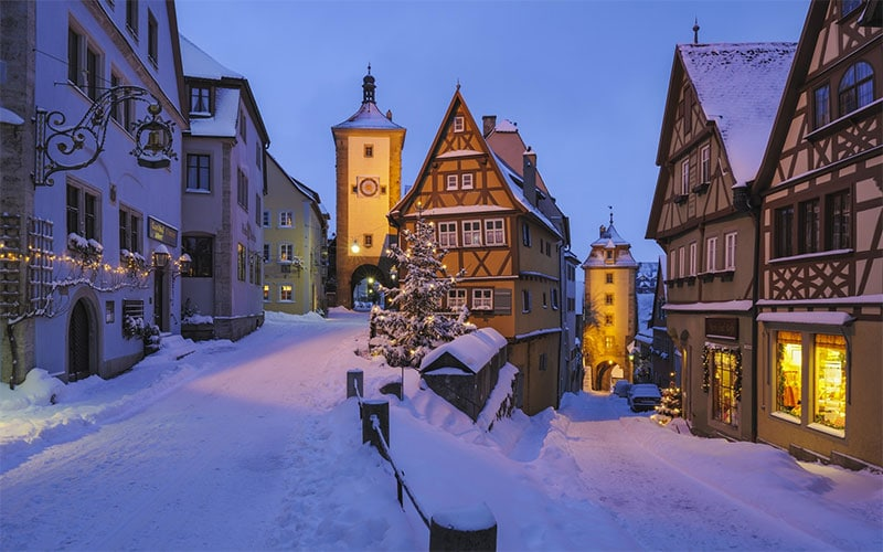 Rothenburg after snow fall