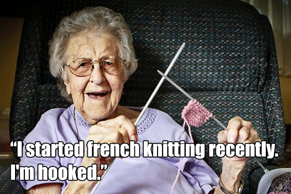 I started french knitting recently. I'm hooked.
