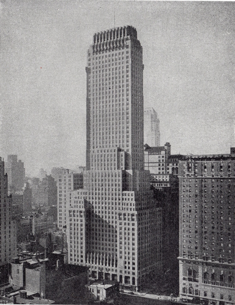 the 680ft tall Chanin building opens on the soutwestern corner of Lexington Avenue and 42nd Street