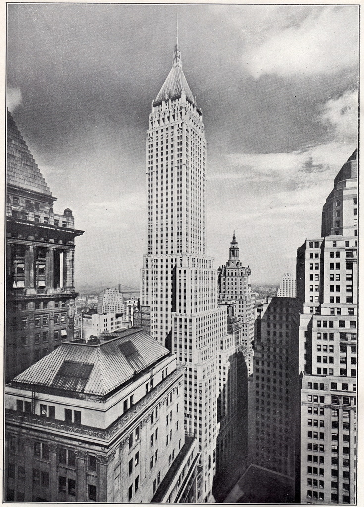 The Bank Of Manhattan building on its completion in Autumn of 1929