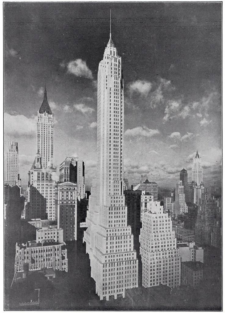 The 72-story Cities Service Building (now AIG Building or 60 Wall Tower) in February 1932.