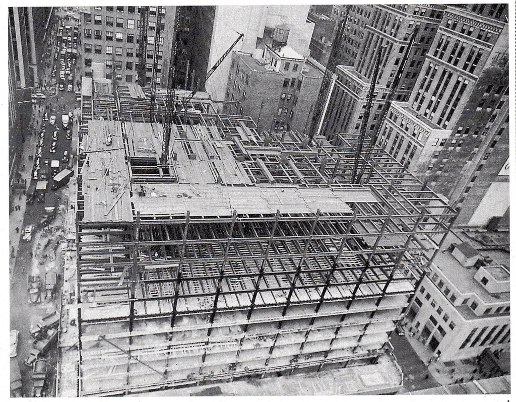Construction of the 100 Park Avenue Building begins in September 1948.