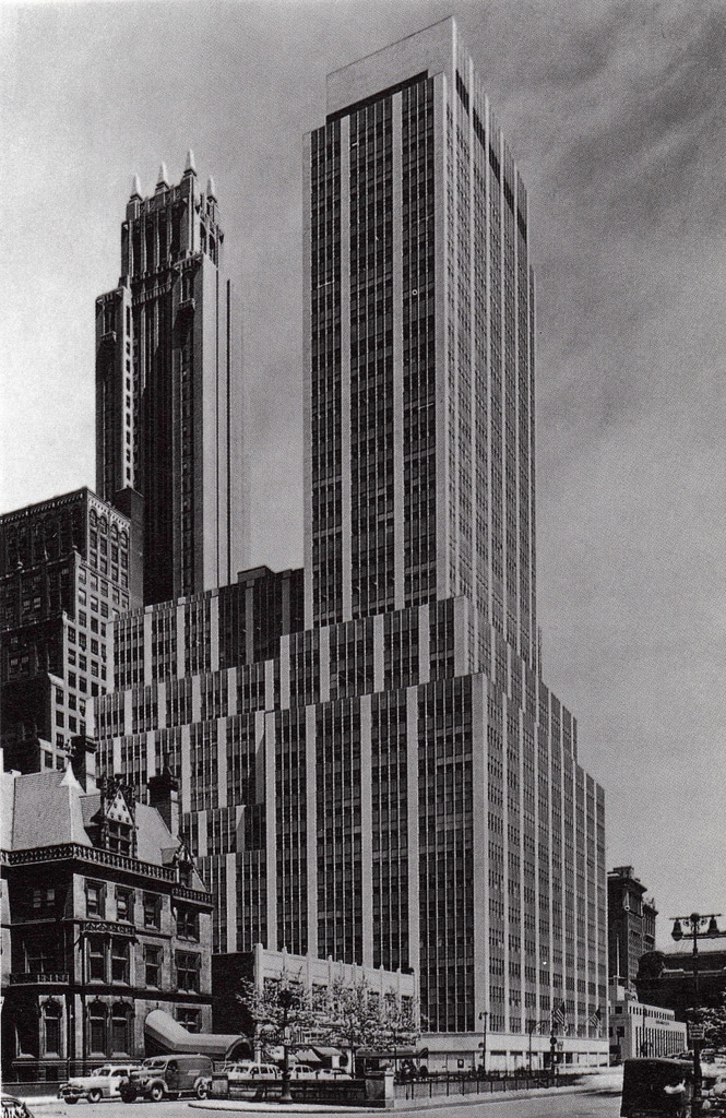 The completed building in 1949.