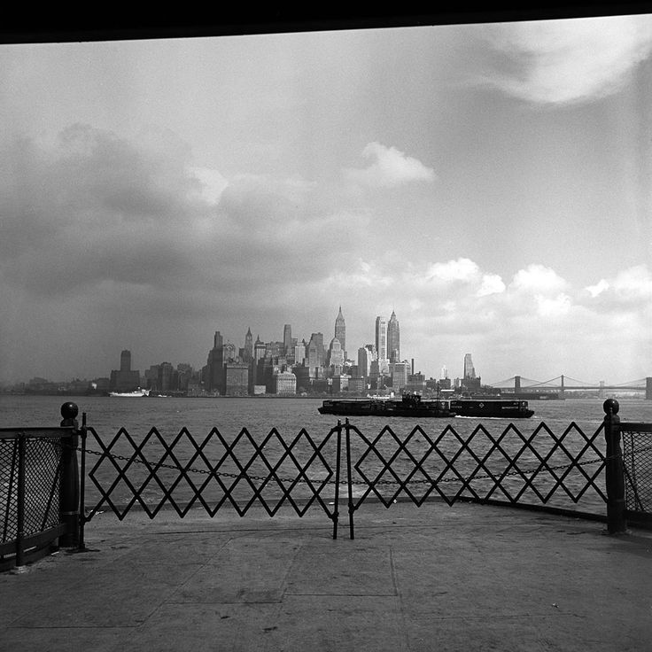 Lower Manhattan Skyline, September 1953.