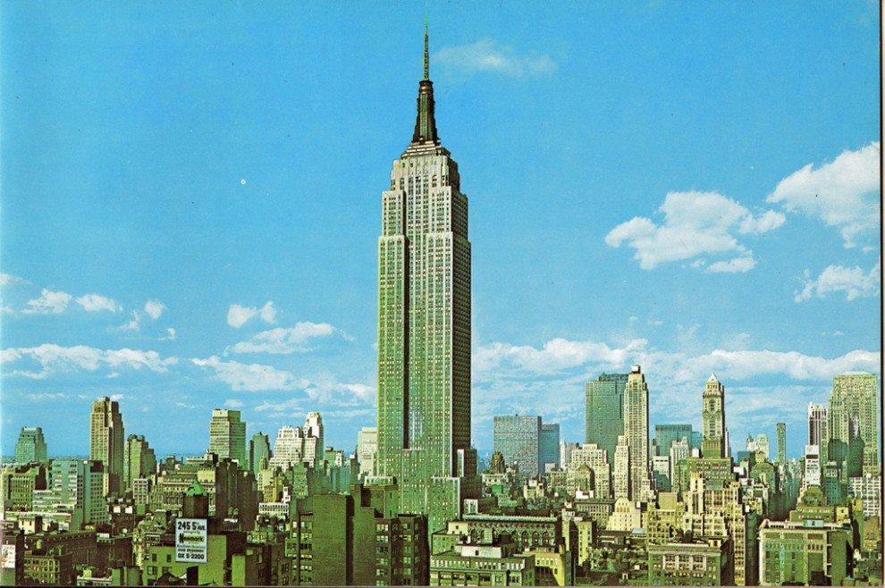 The Empire State Building looking northwest from New York Life Building. May 1961.