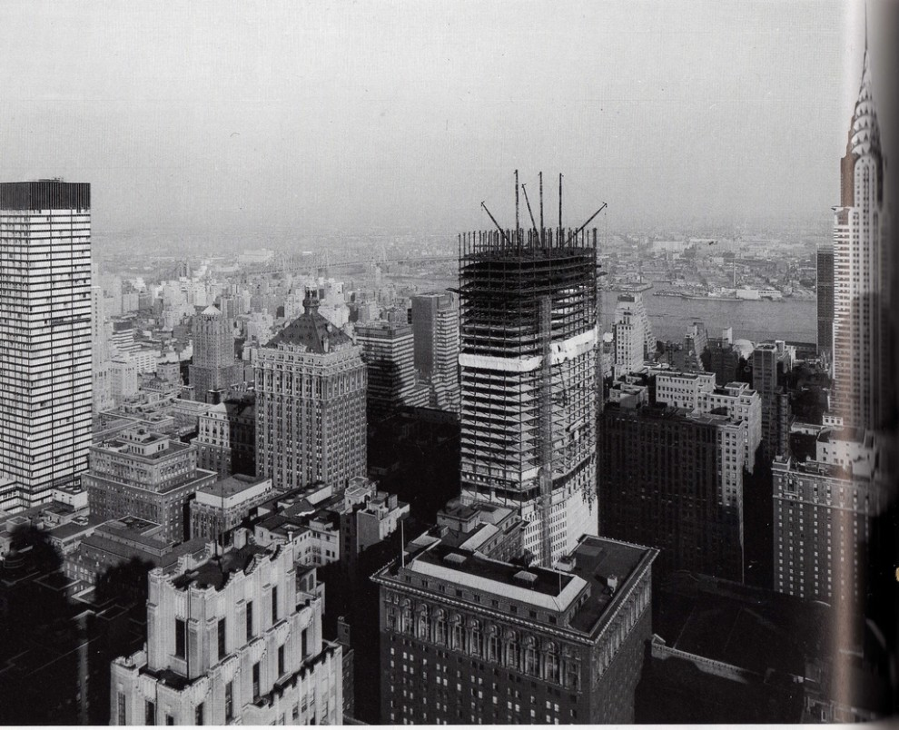 Construction of the Pan Am Building in March 1962