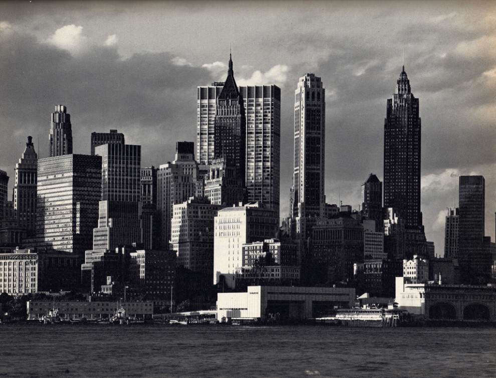 Lower Manhattan from Governors Island. July 1963.