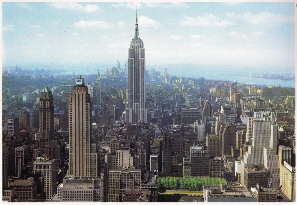 Midtown Manhattan looking south from RCA Building. June 1964.
