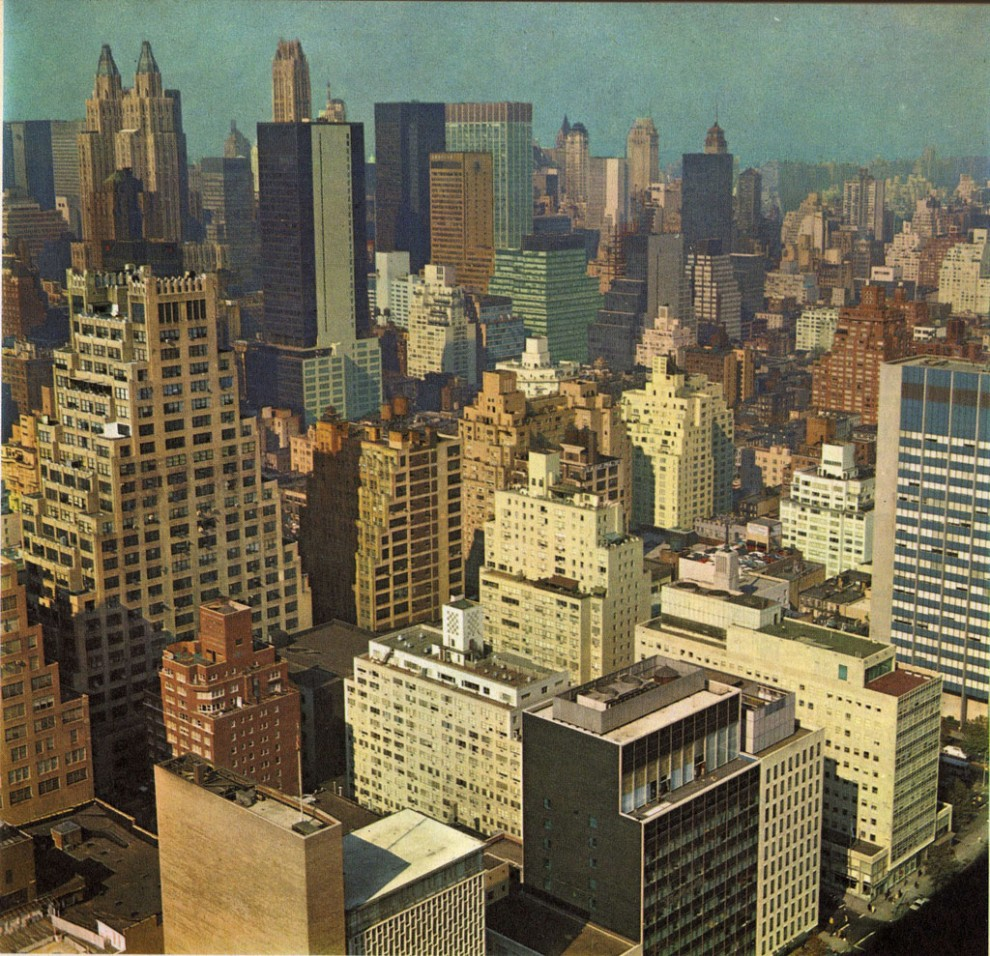 view of Midtown Manhattan from June 1965