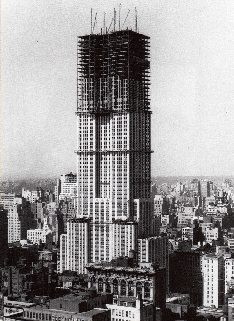The Chrysler Building nears completion (September 1930).