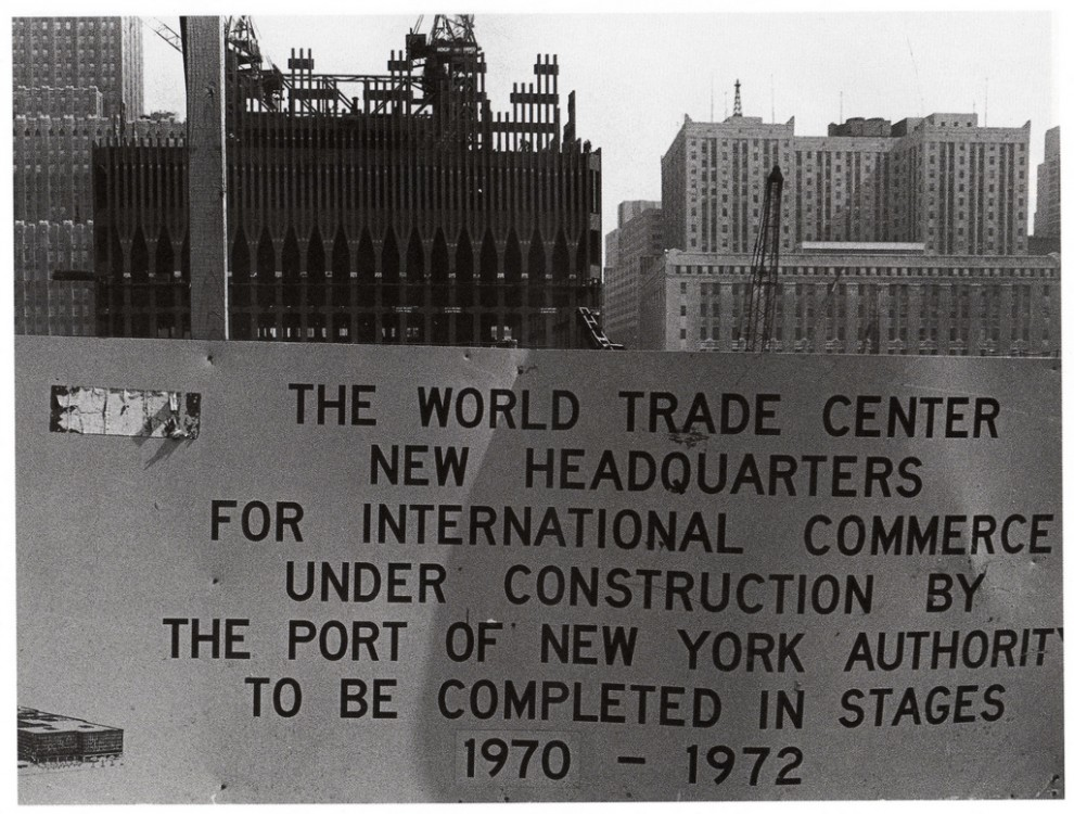 Construction begins on the World Trade Center site. April 1969.