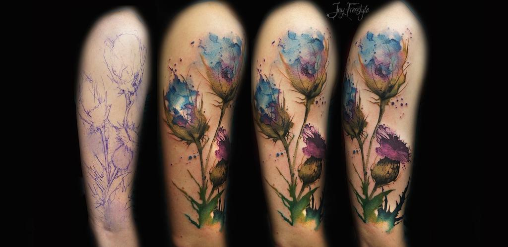 bf30b5d04bbf6 36 Beautiful Watercolor Tattoos from the World's Finest Tattoo Artists