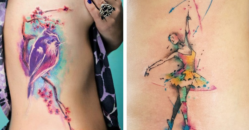 36 Beautiful Watercolor Tattoos from the World's Finest Tattoo Artists